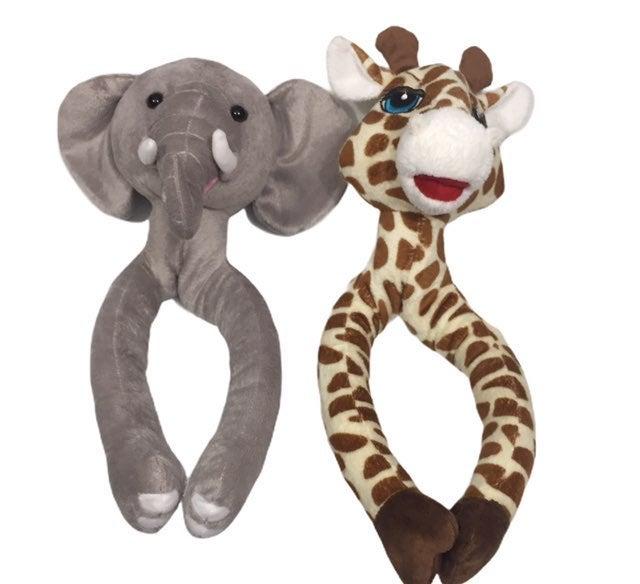 Curtain Critter Elephant Giraffe Tie Set