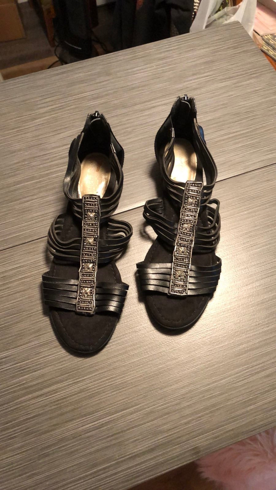 Easy Spirit Black Sandals