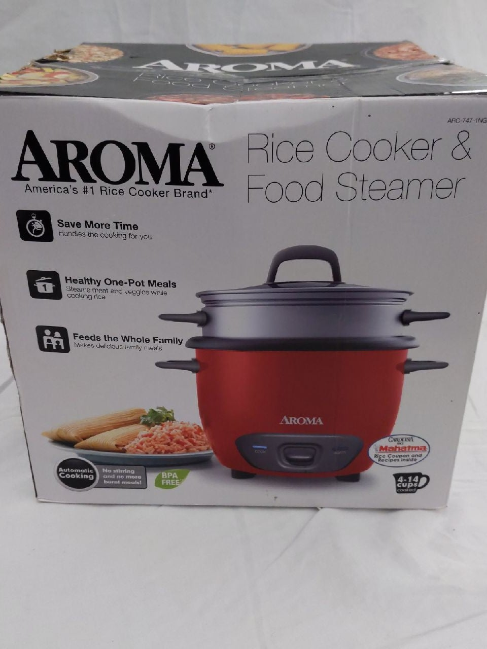 Aroma 14 Cup Pot-Style Rice Cooker and F