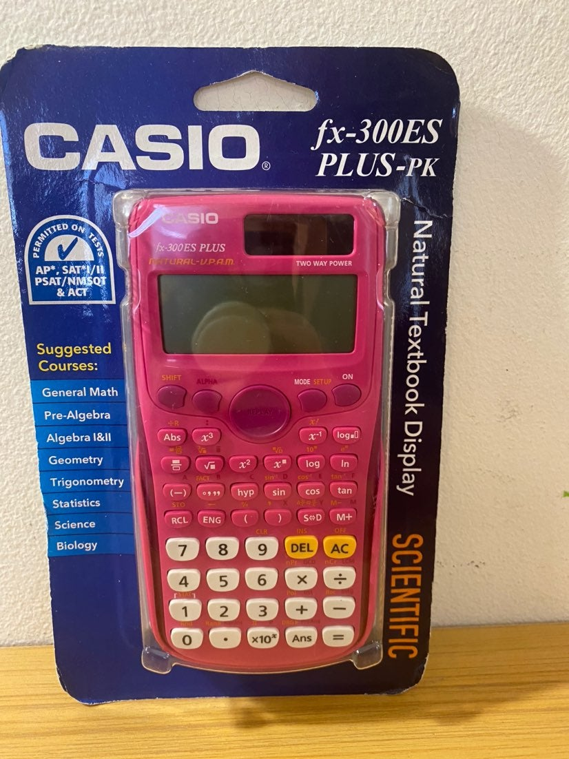 NEW CASIO FX-300ES PLUS-PK CALCULATOR
