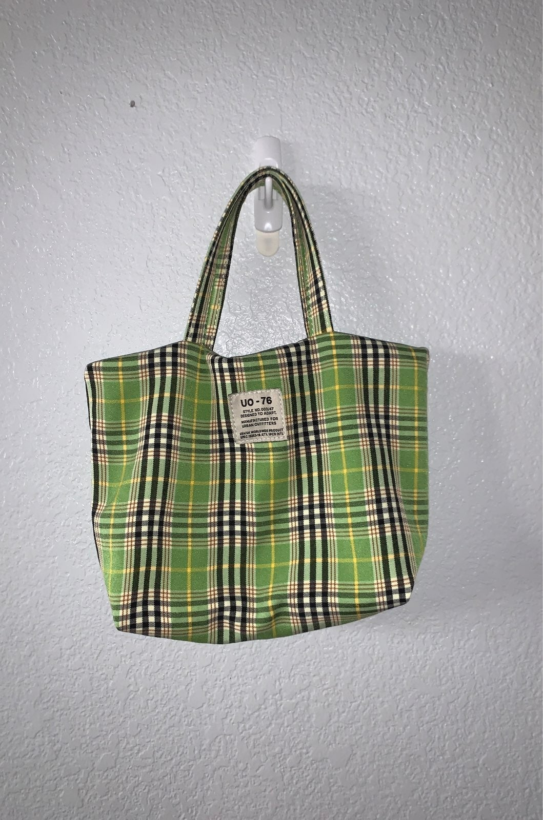 Urban Outfitters Green Plaid Purse