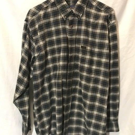 Vintage Pendleton Green Plaid flannel