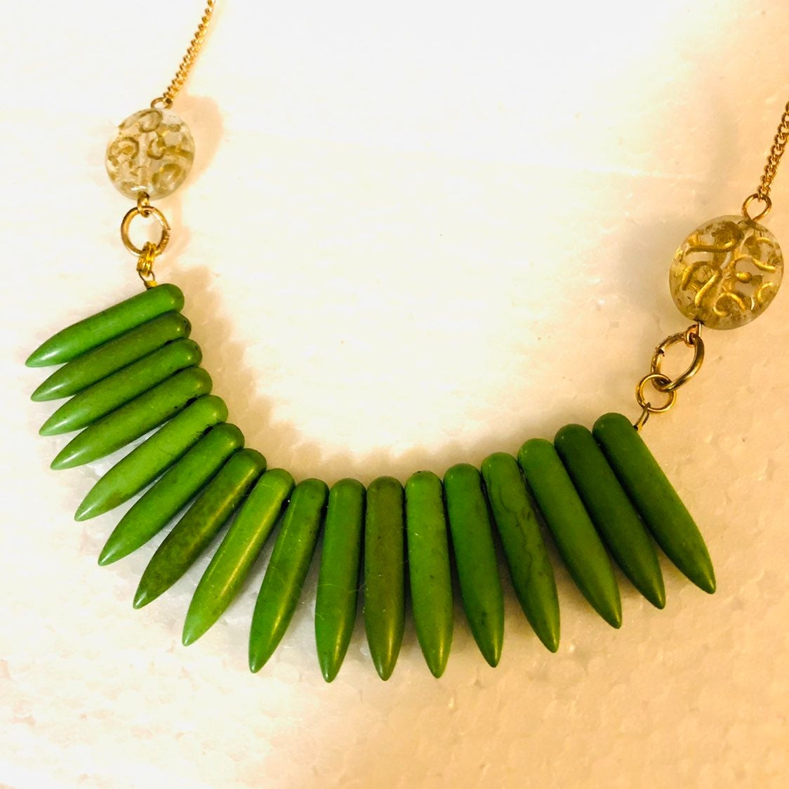 Green Necklace designer boutique jewelry