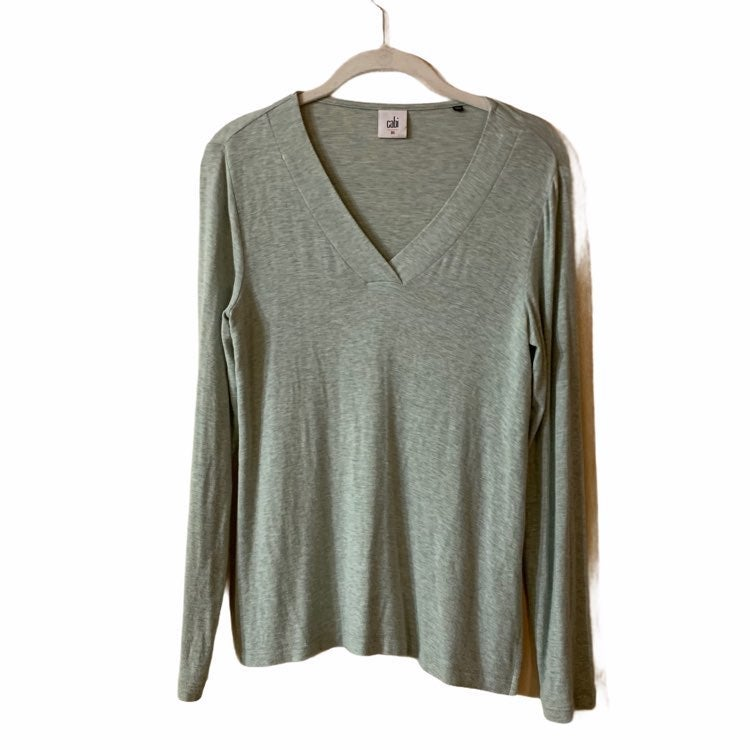 Cabi Top Size XS Womens Laid Back Sea Gr