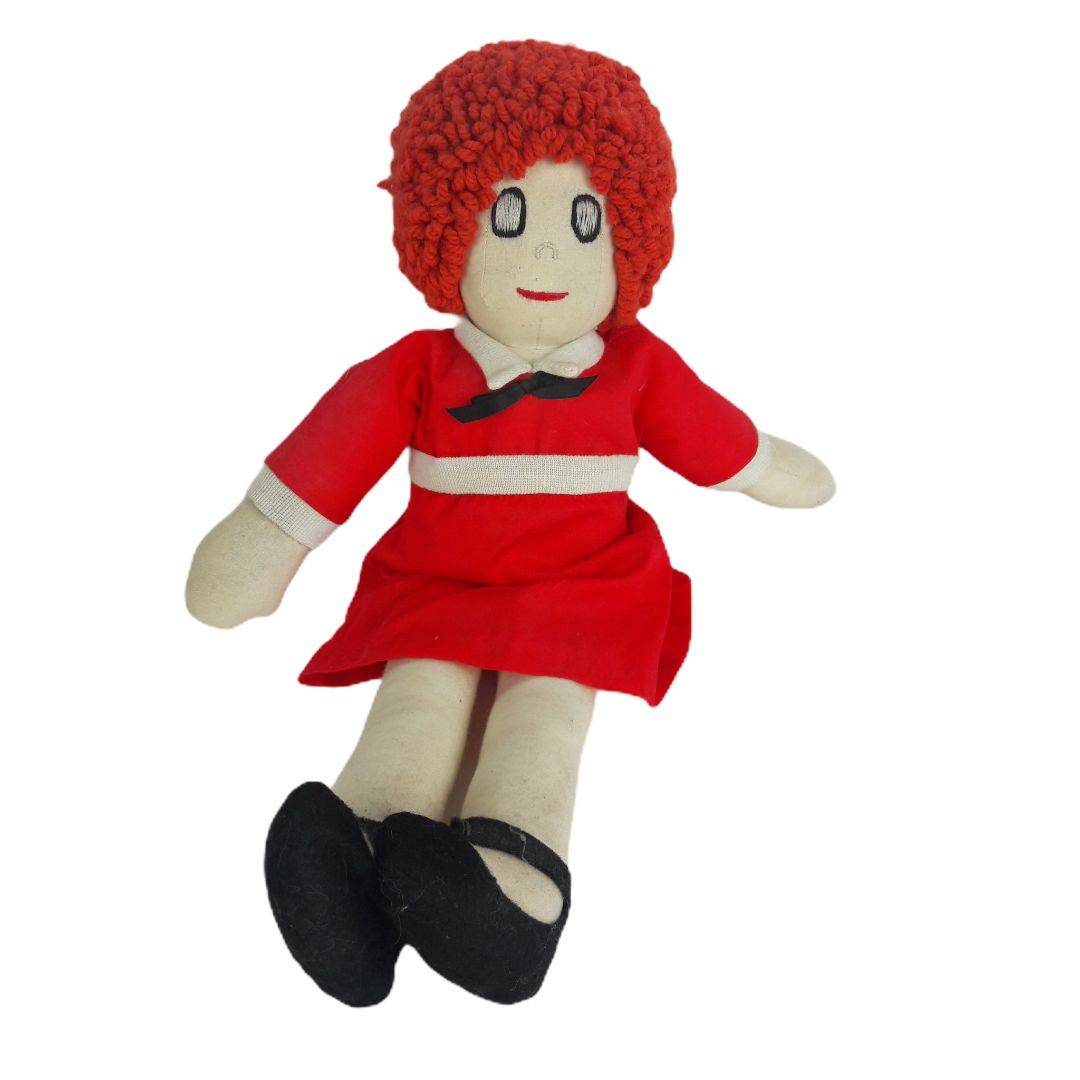 Vintage Little Orphan Annie  Plush Doll