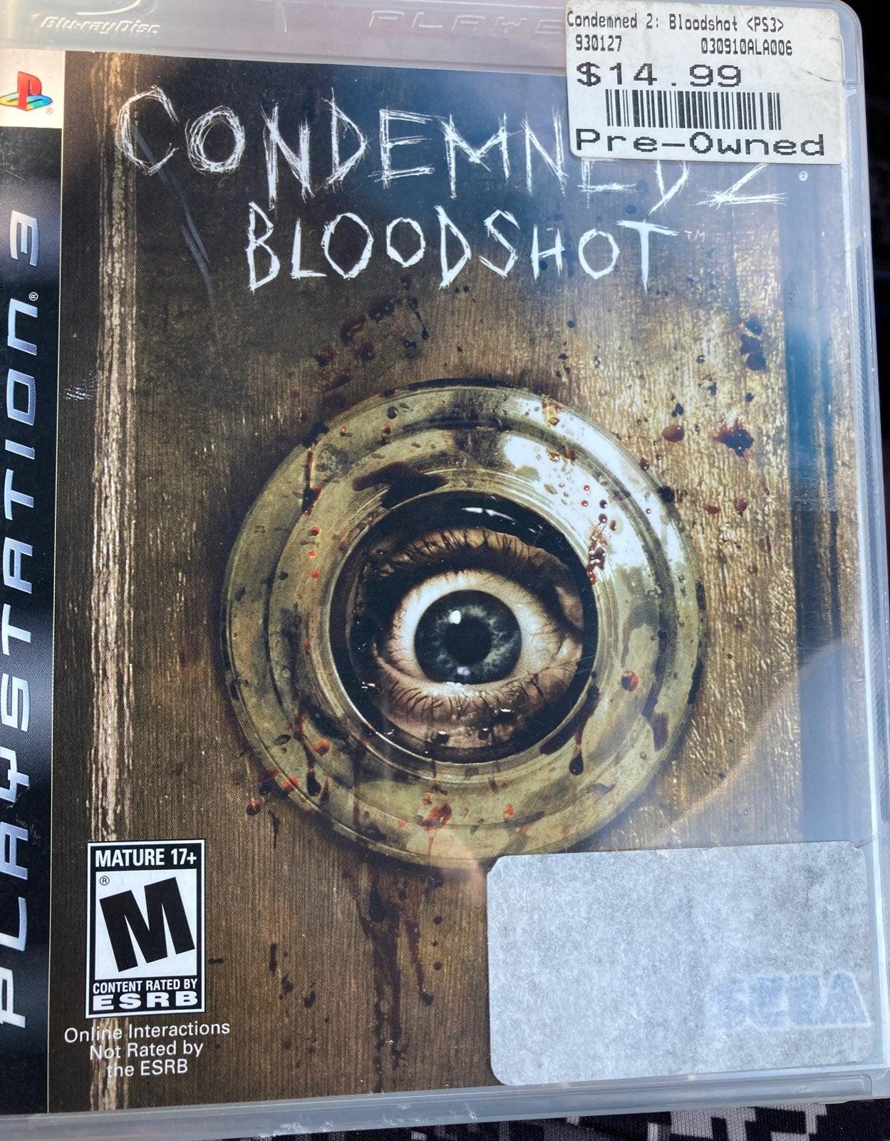 Condemned 2 Bloodshot Sony PlayStation 3