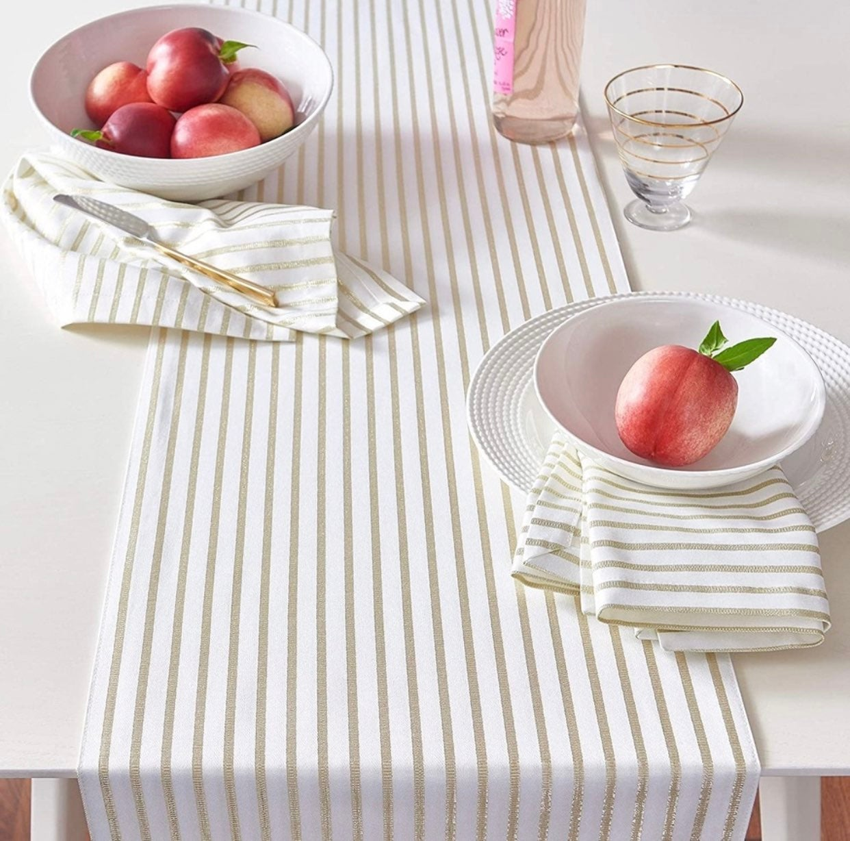 Kate Spade Harbour Drive Gold Table Runner