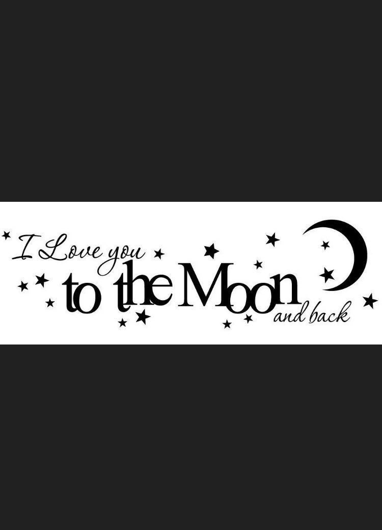 New I LOVE YOU TO THE MOON wall decal