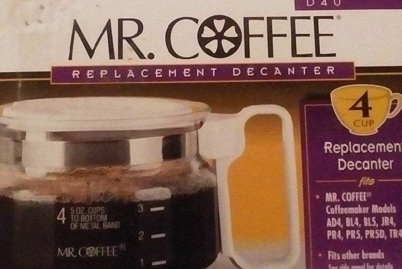 Mr coffee D40 replacement decanter