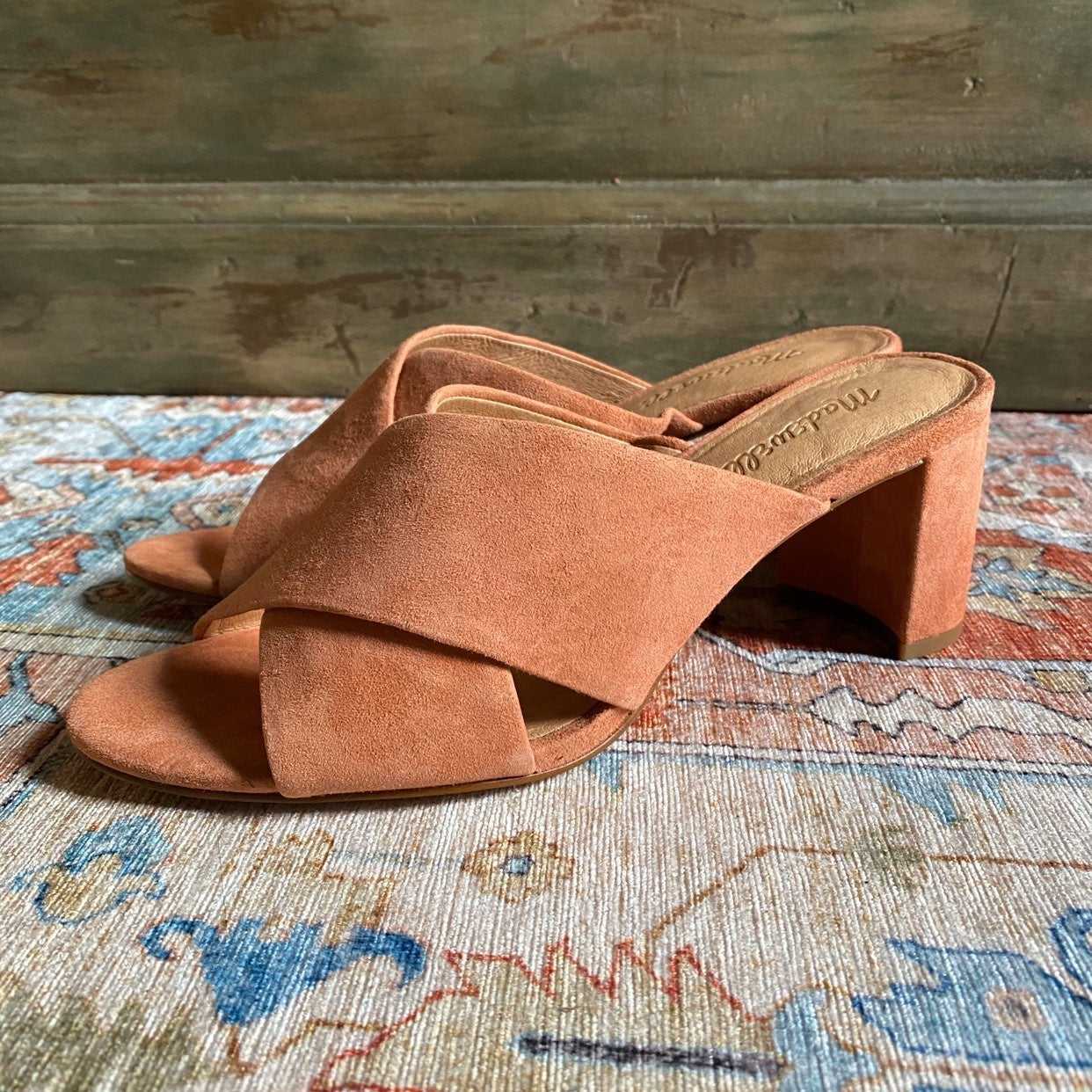 NEW MADEWELL GREER MULES 7.5 BURNT EMBER