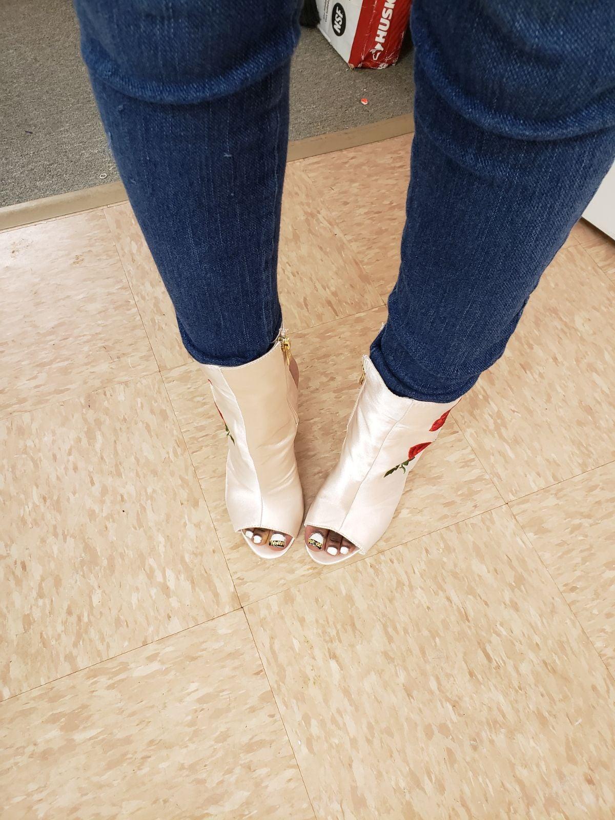 Peach ankle boot