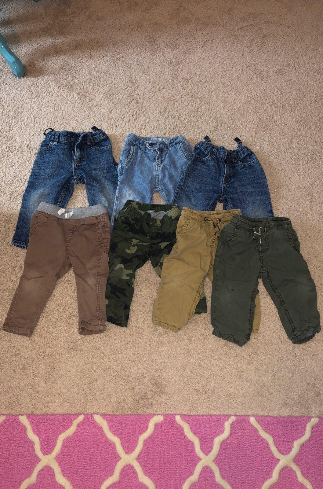 boys 12 month jeans pants lot of 7