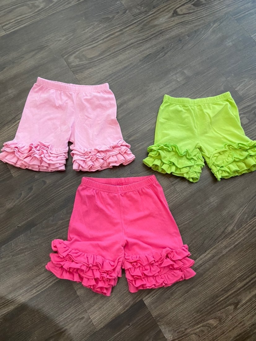 Girl's Ruffle Shorties 3T