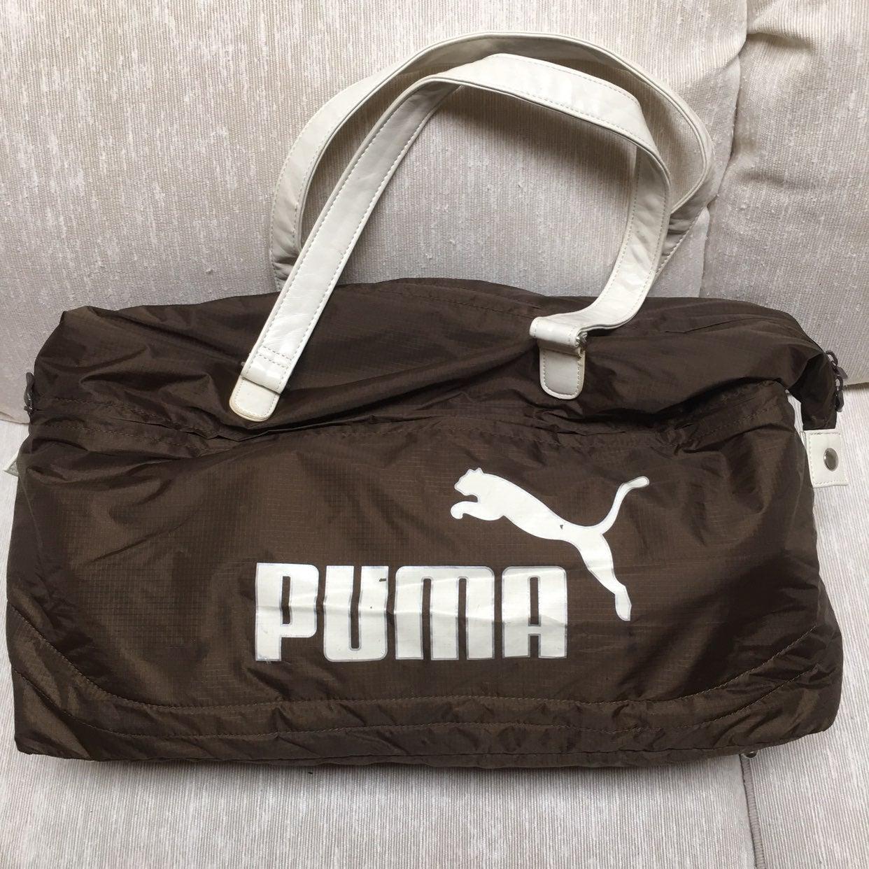Puma Duffle Bag Brown With White Logo
