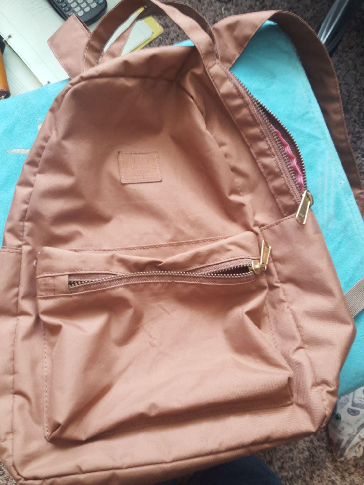 herschel taupe backpack brown bag