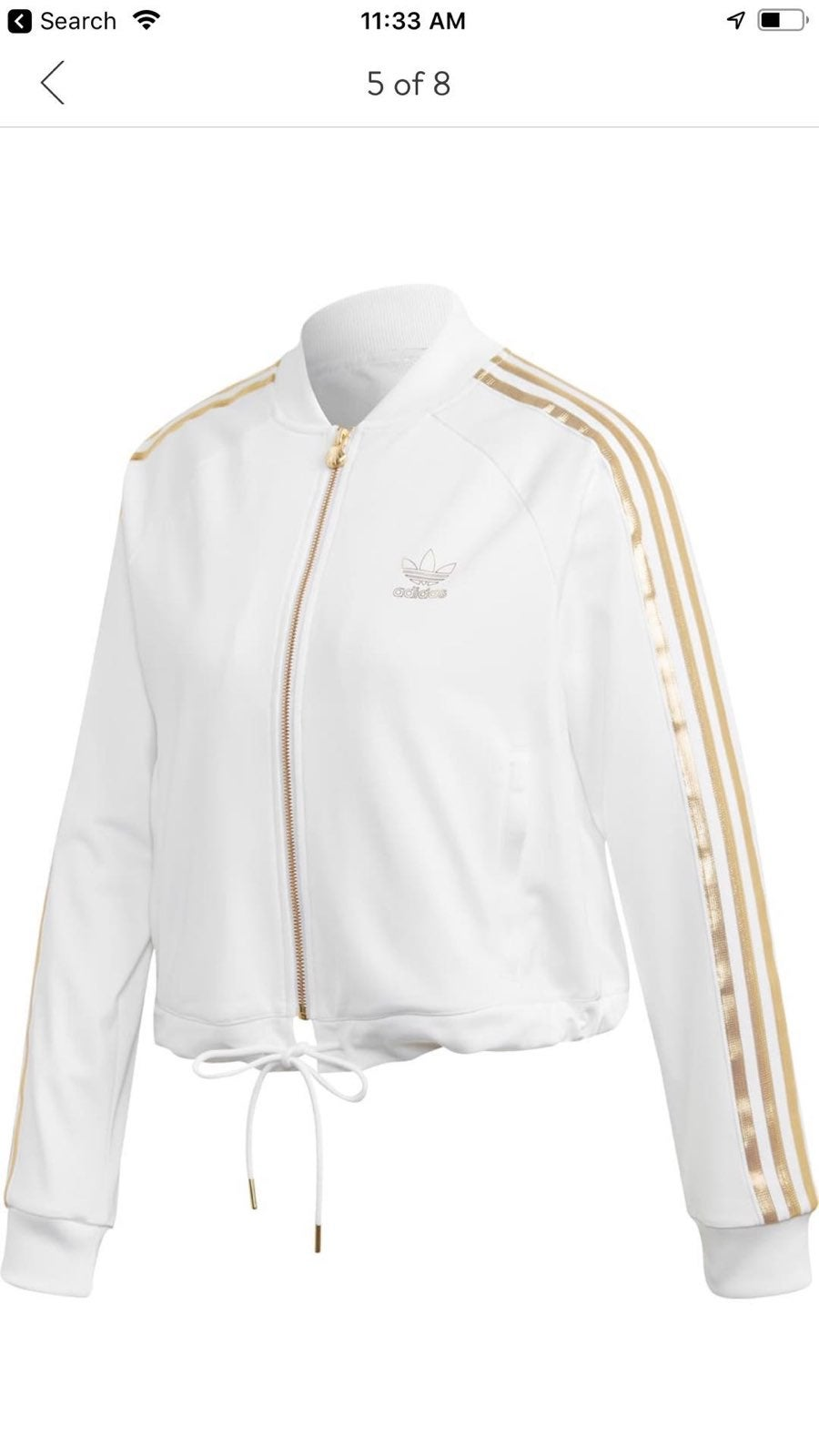 Adidas gold SST 2.0 track jacket