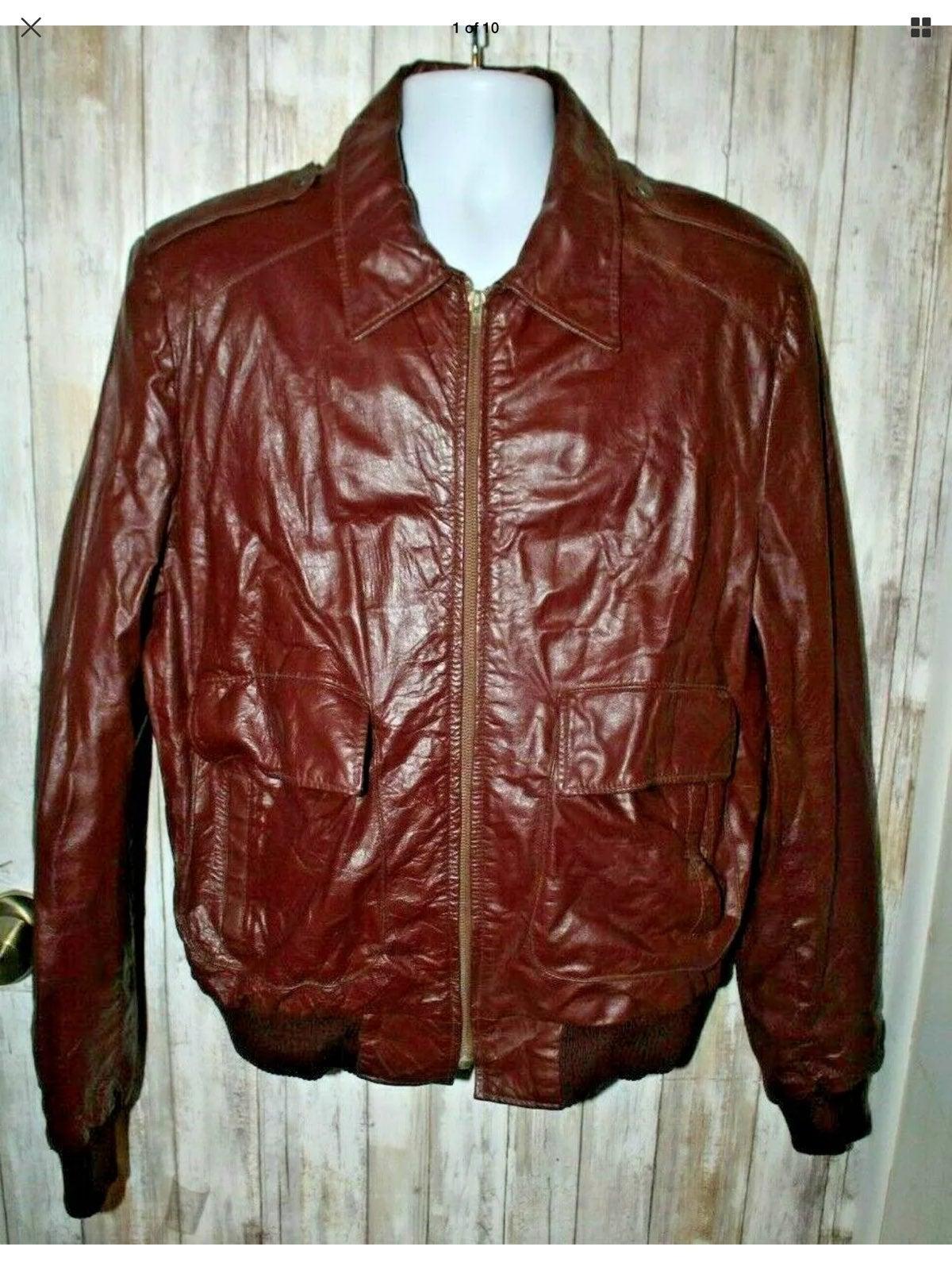 Vintage Oleg Cassini leather jacket 46