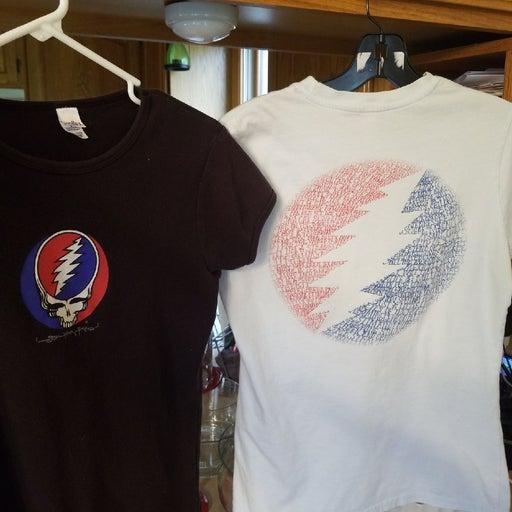 Two grateful dead  womens tshirts