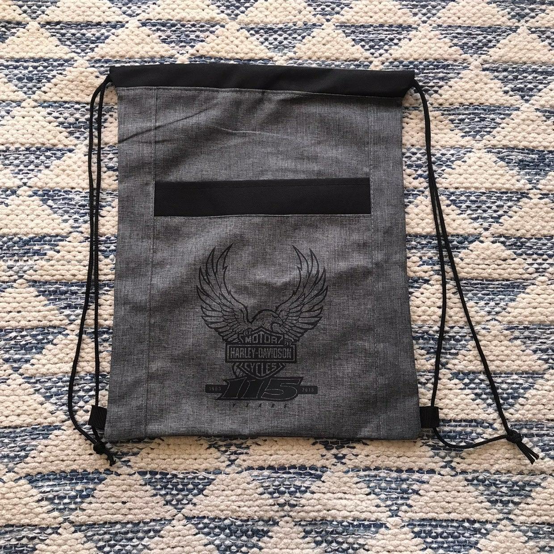 Harley Davidson Drawstring Backpack Grey