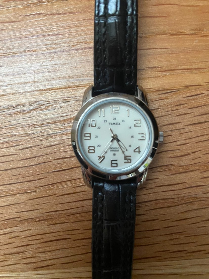 TIMEX Watch - Black Leather Band