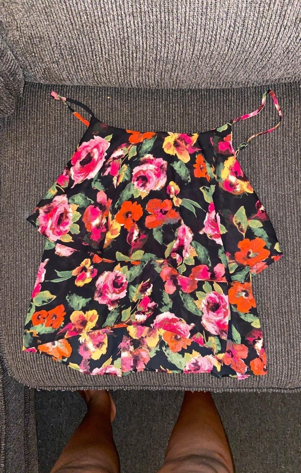 Cute floral tank top