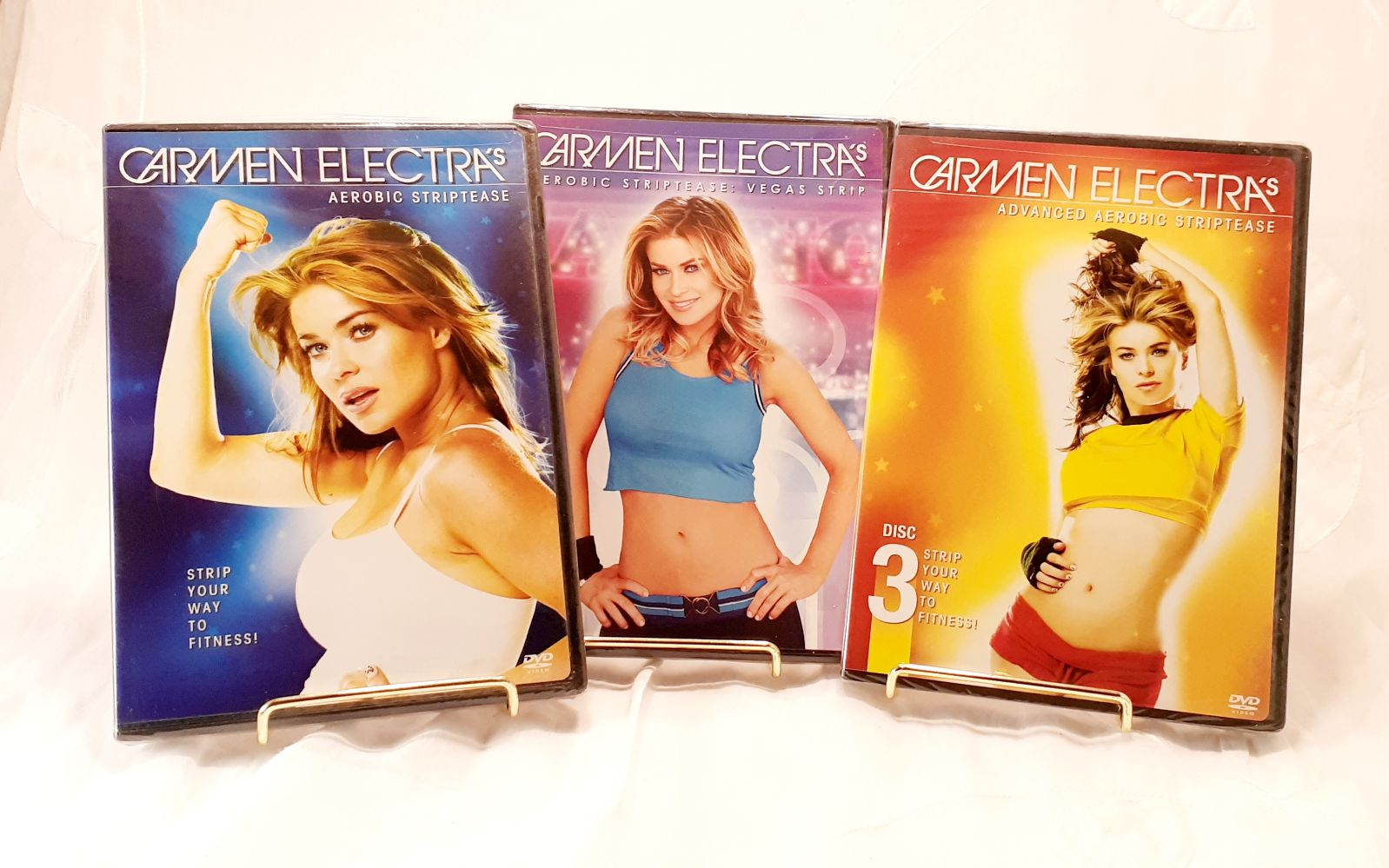 Carmen Electra Strip Aerobics 3 NIB DVDs