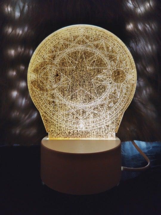 Magic night light lamp