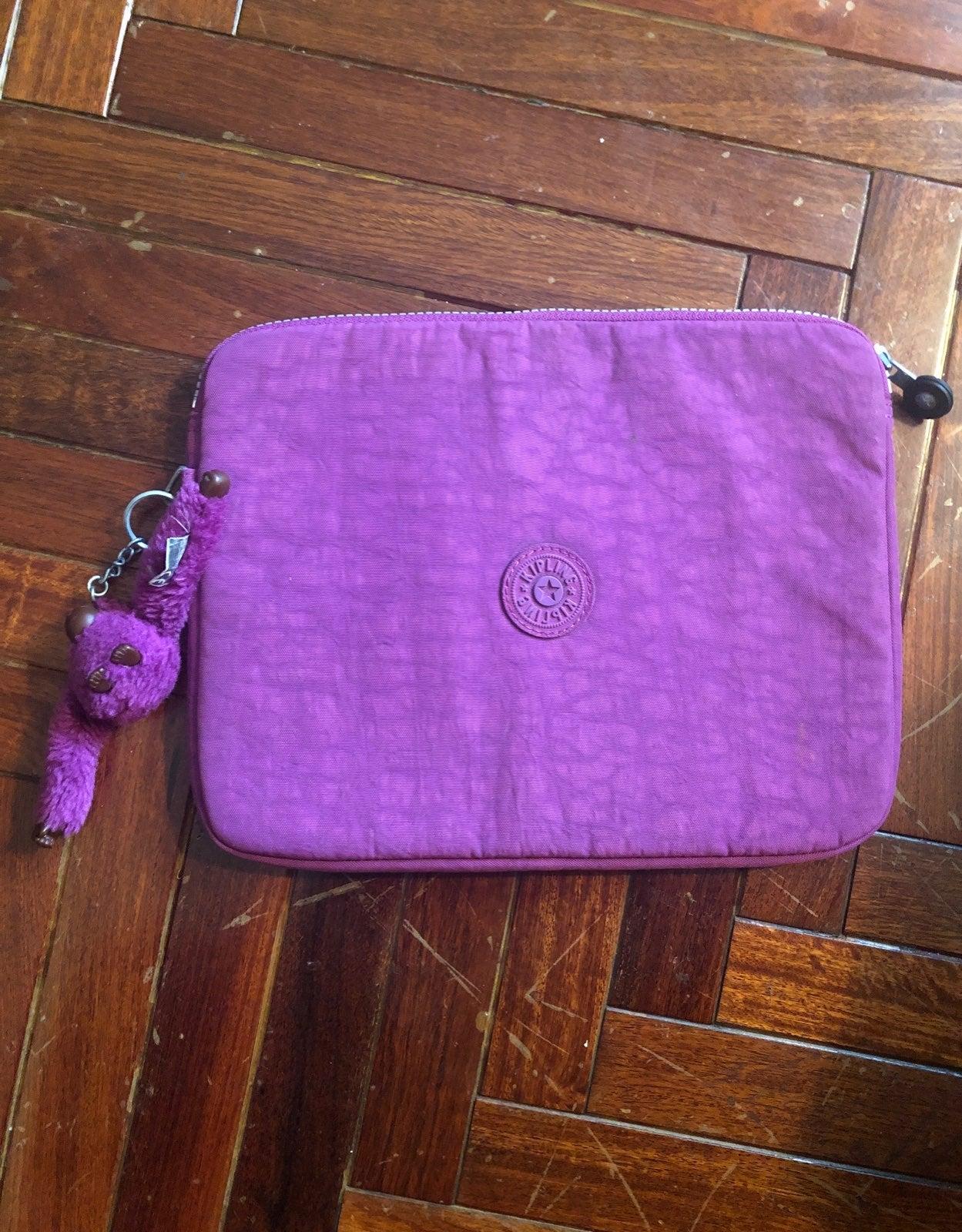 Purple Kipling tablet/laptop sleeve!