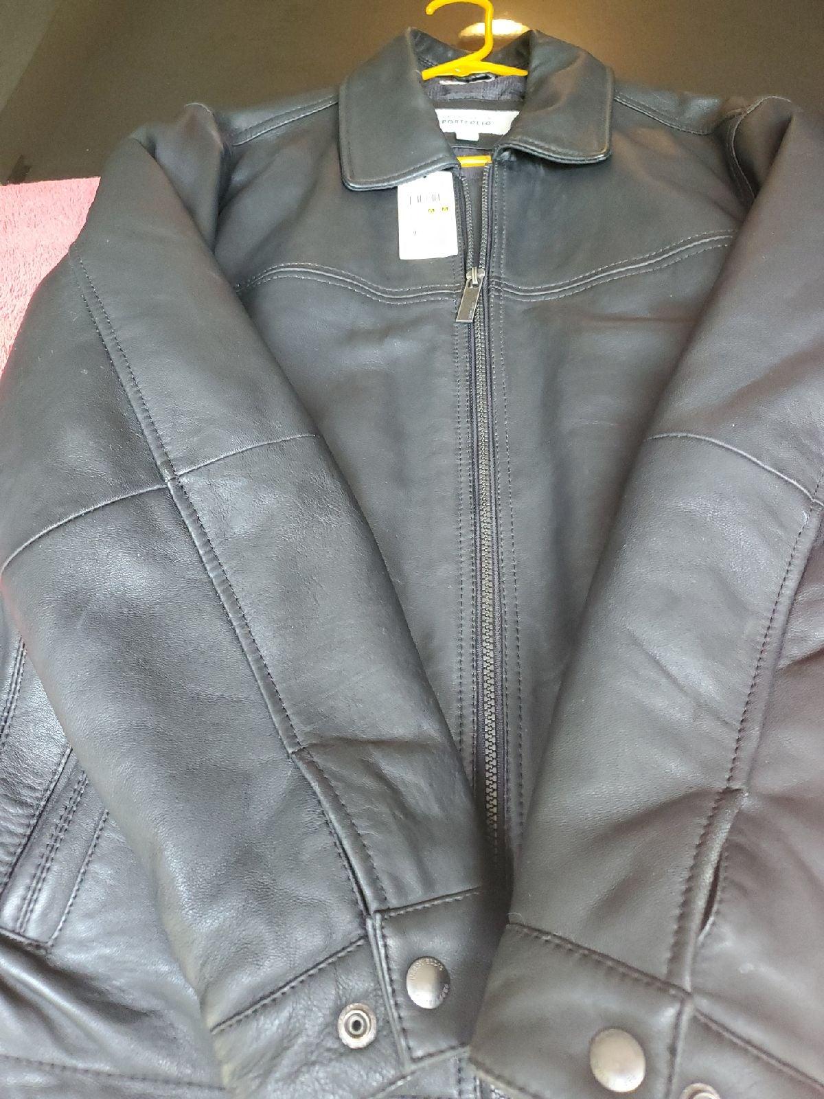 Perry Ellis Portfolio Lambskin Jacket
