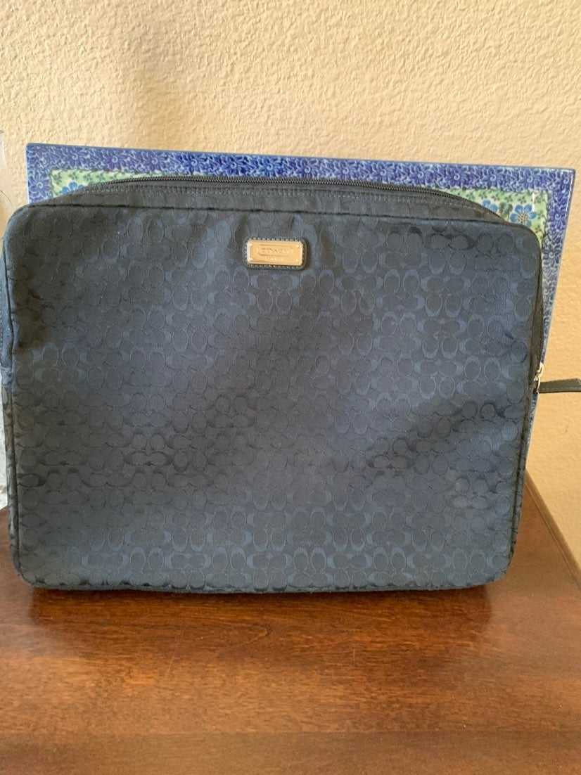 Coach laptop ipad sleeve cover black
