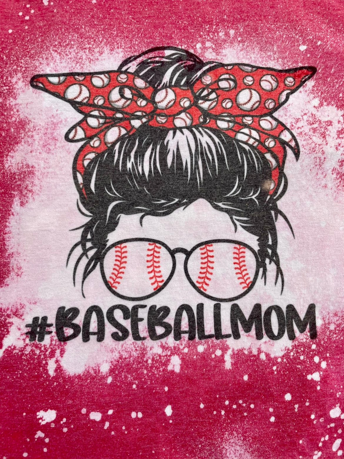Baseball Mom softestyle T-shirt (small)