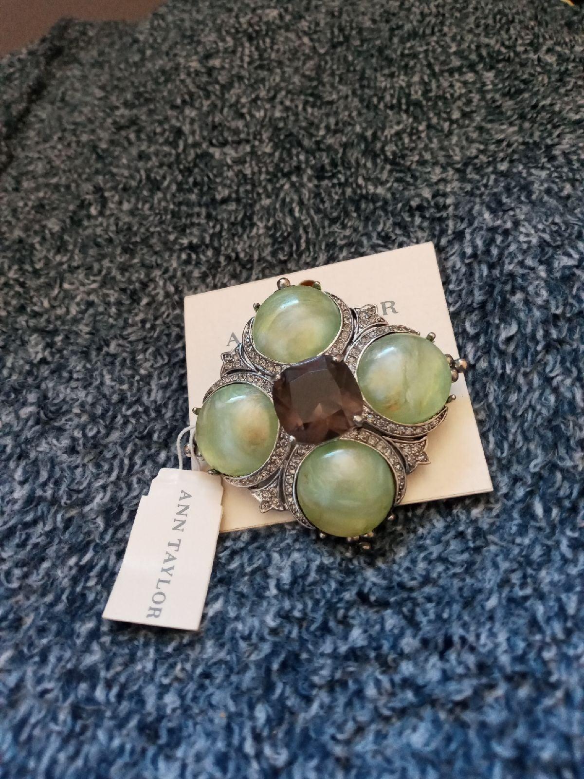 Green Stone Brooch