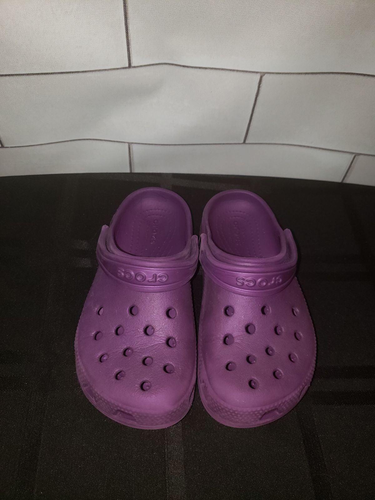Purple kids crocs