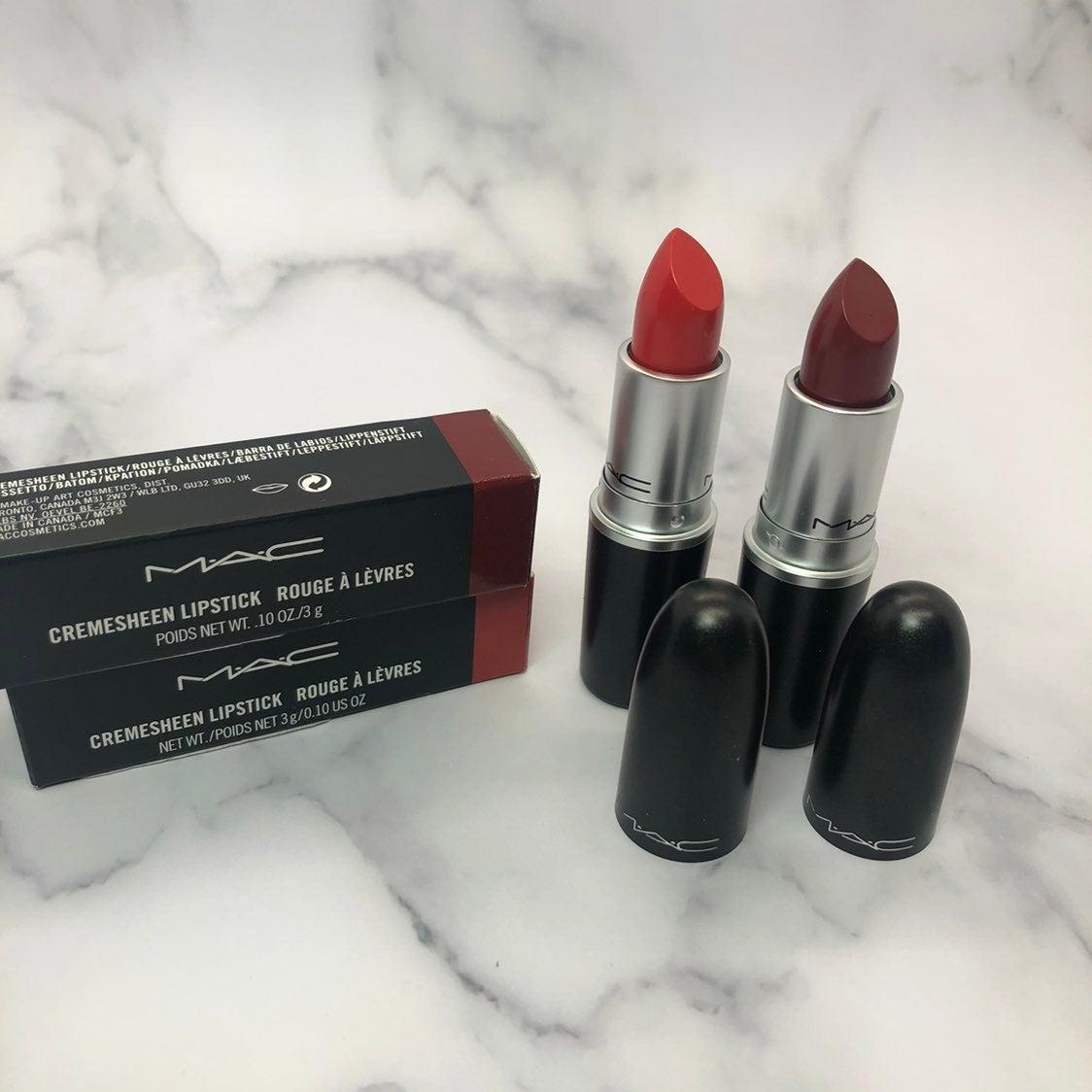 MAC cremesheen lipstick bundle 233/207