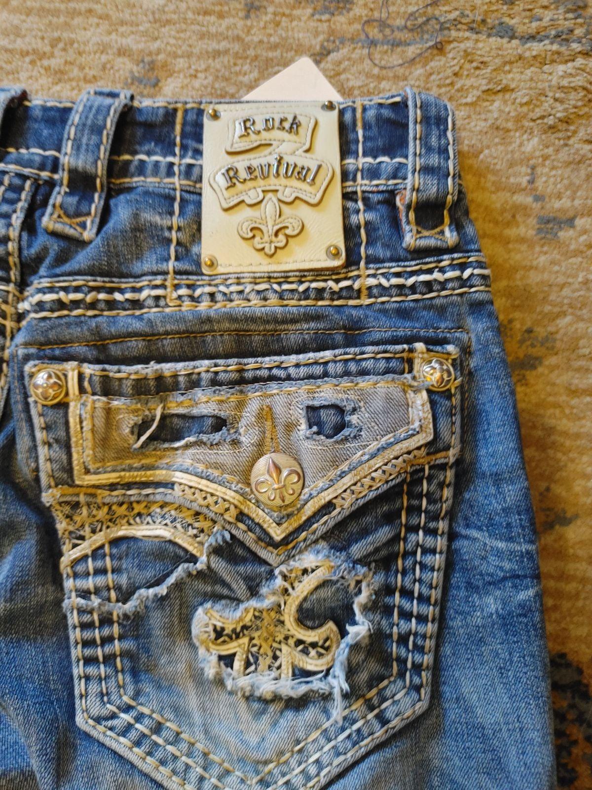 Men's Rock Revival Jeans Size 29x34