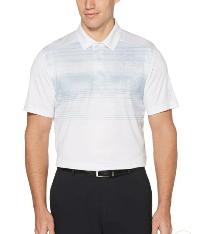 PGA TOUR Men'sPhotoreal Print GolfPolo