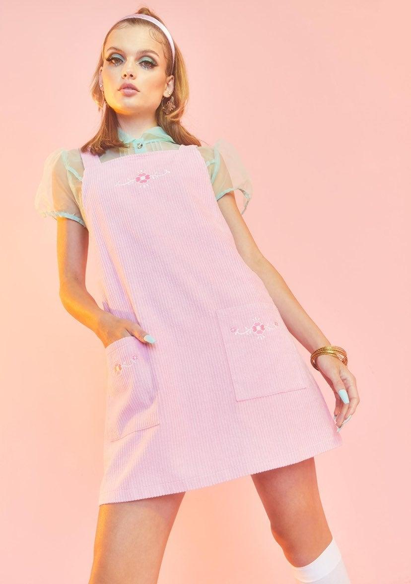 Budding Beauty Pinafore Dress