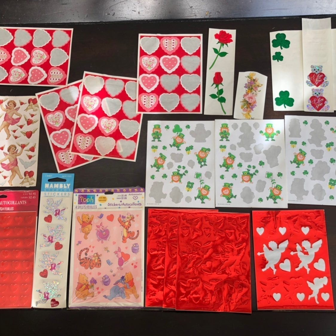 vintage valentines day st pats stickers