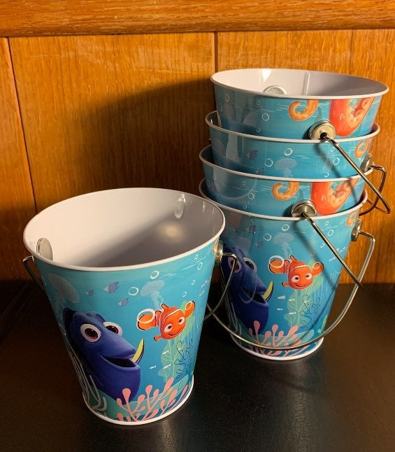 Lot (x5) Finding Dory Pail Party Favor