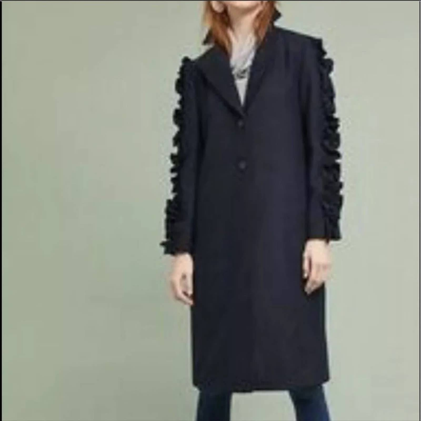 The Fifth Label Ruffle Sleeve Over Coat
