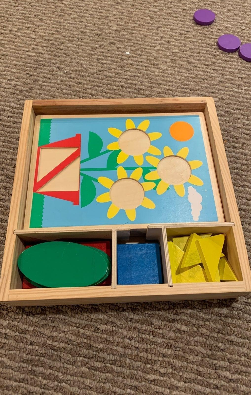 Melissa and doug pattern block puzzles