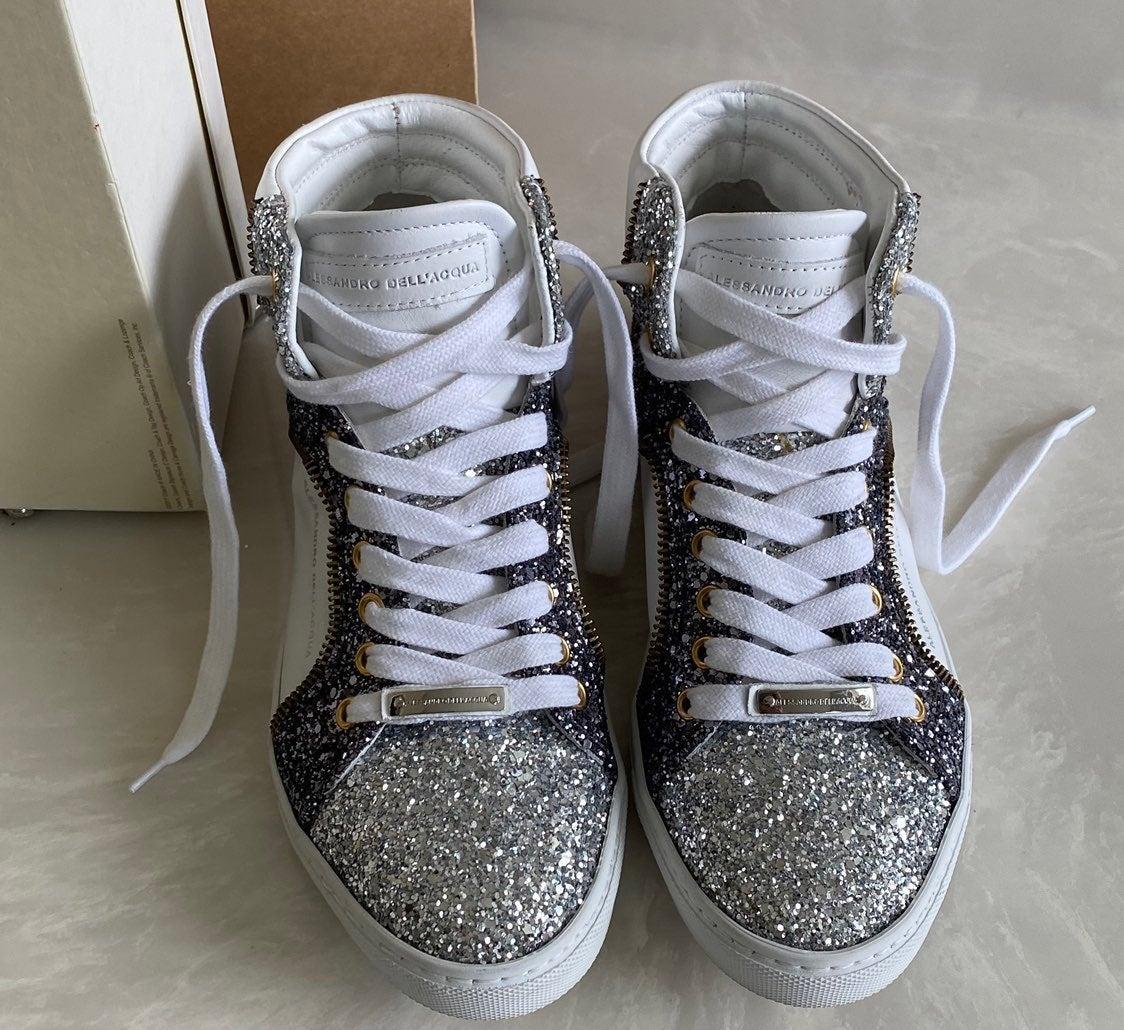 Alessandro Dell'Acqua bling shoes 6.5