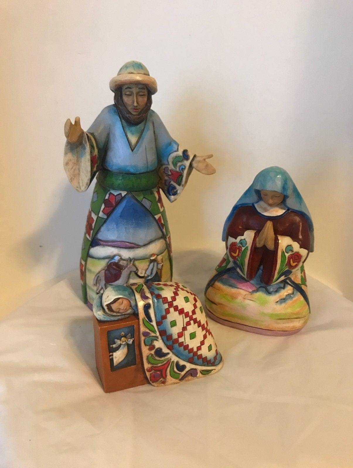 Jim Shore 3pc Nativity Set