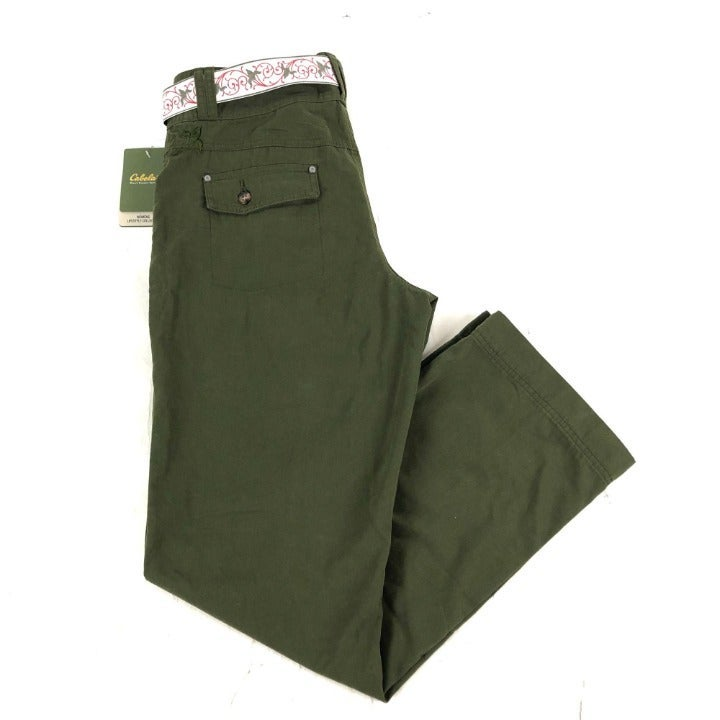 NEW Cabela's Size 10 Outdoor Pants Green