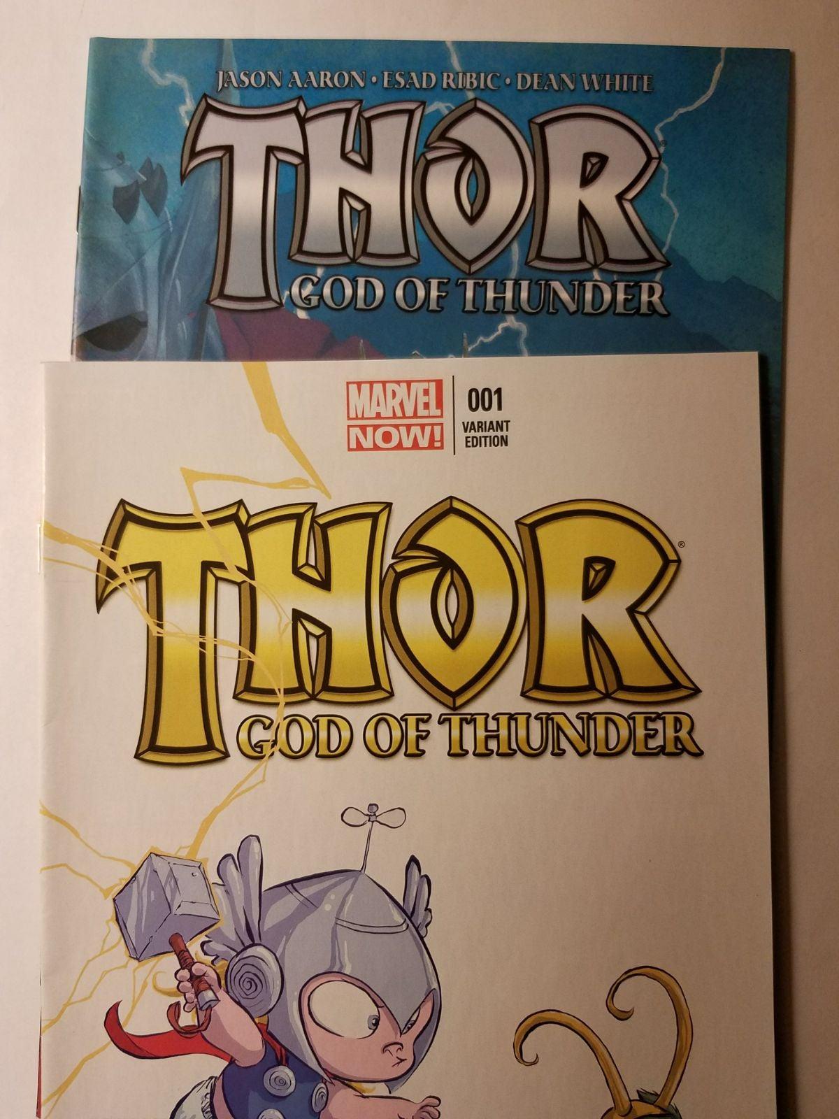 Marvel Thor #1 God of Thunder lot Skotti