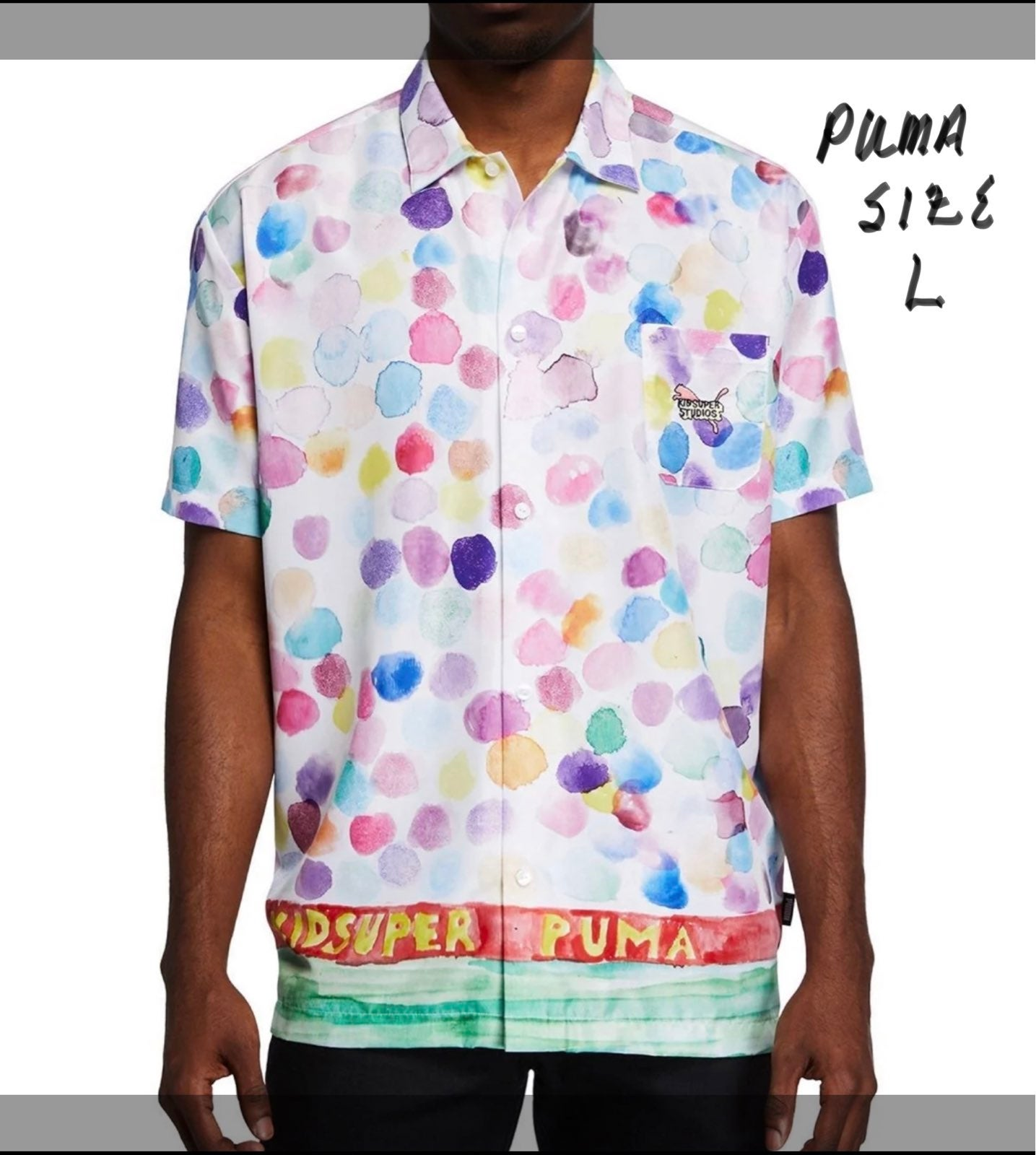 NWT Puma x KidSuper Graphic Print Shirt