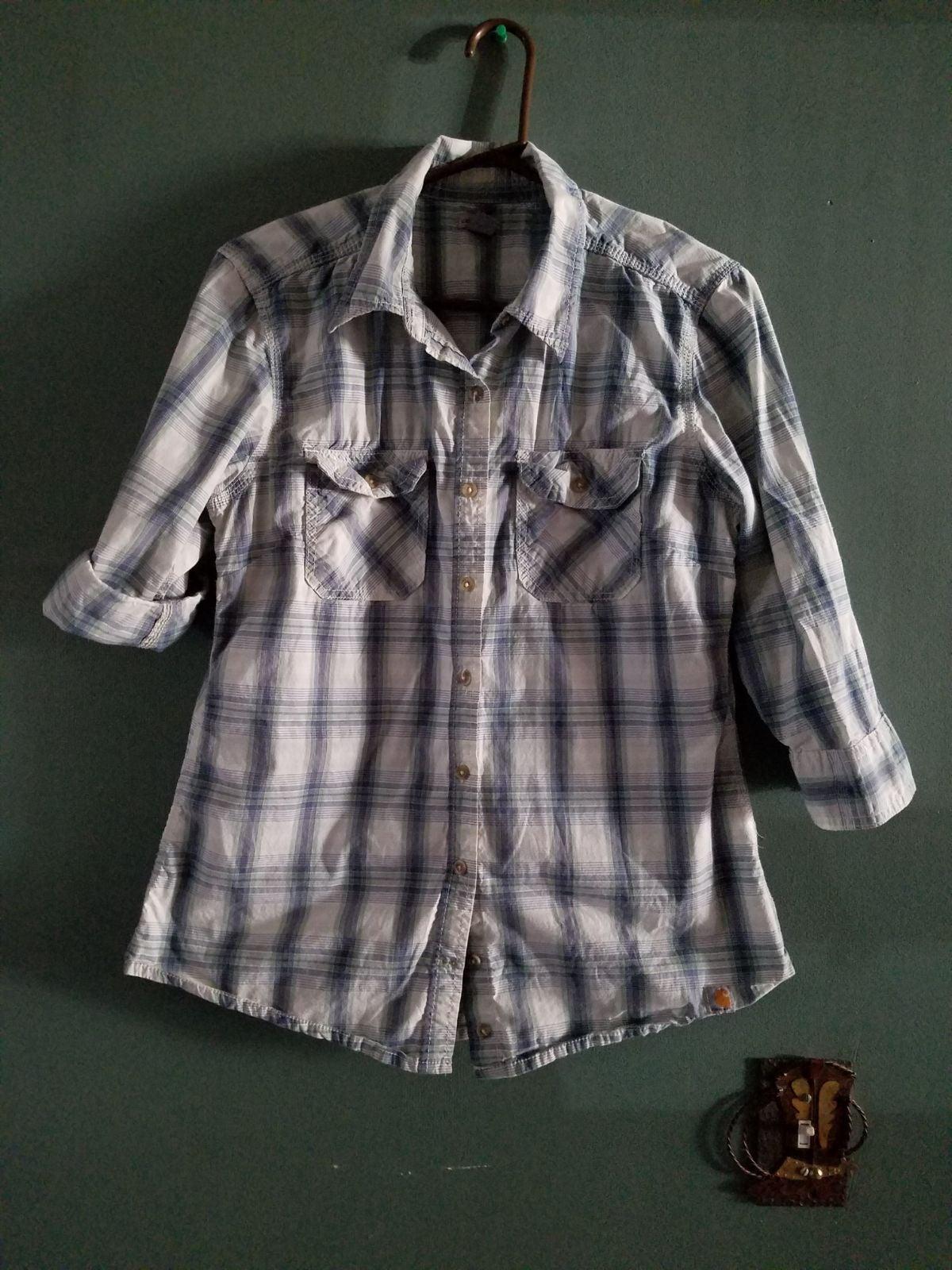 Womens carhartt button up blouse