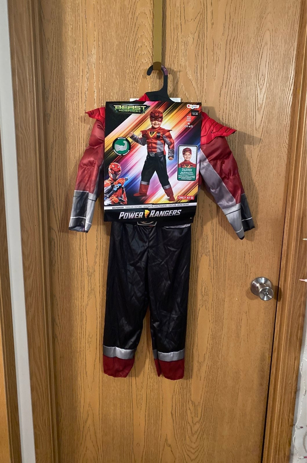 Power Rangers red toddler costume 3T-4T