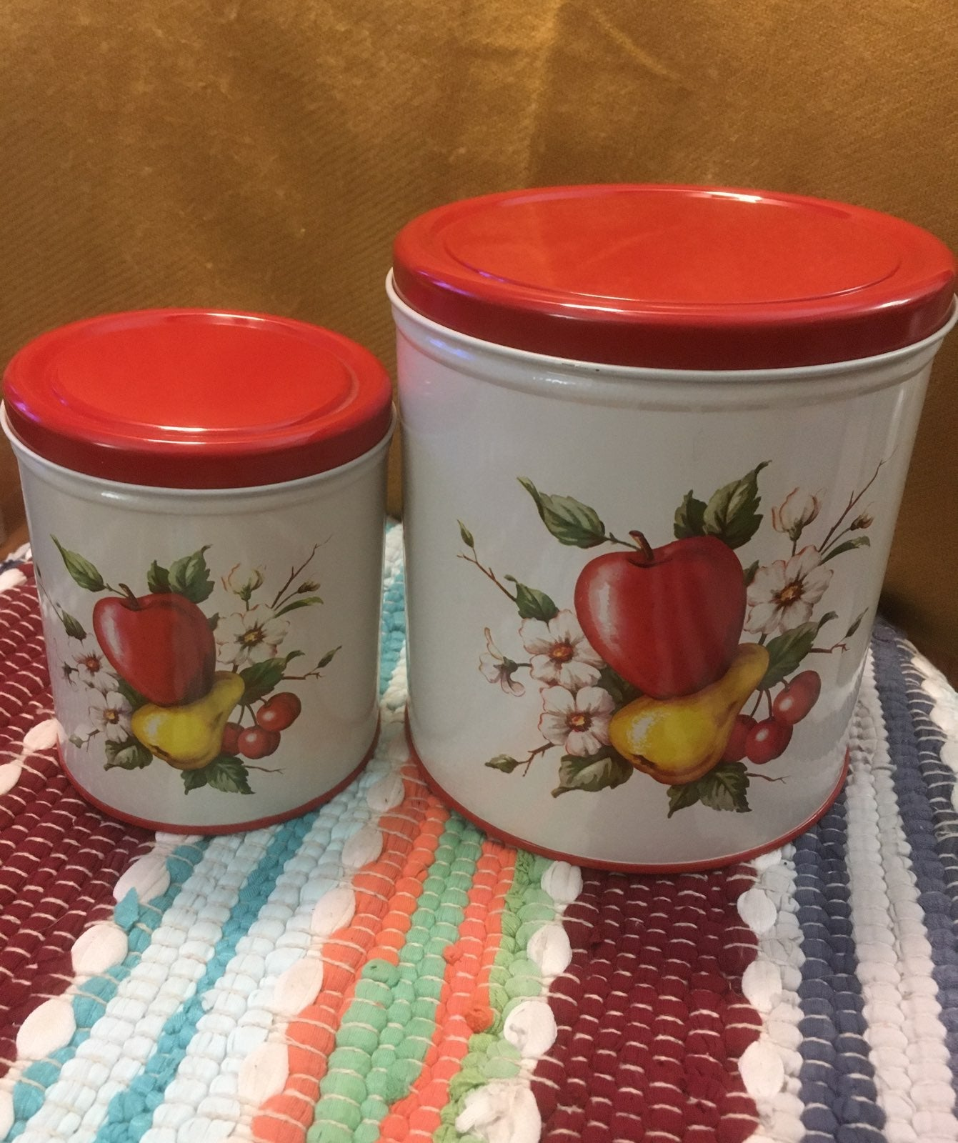 Vintage Decoware Tin Canisters