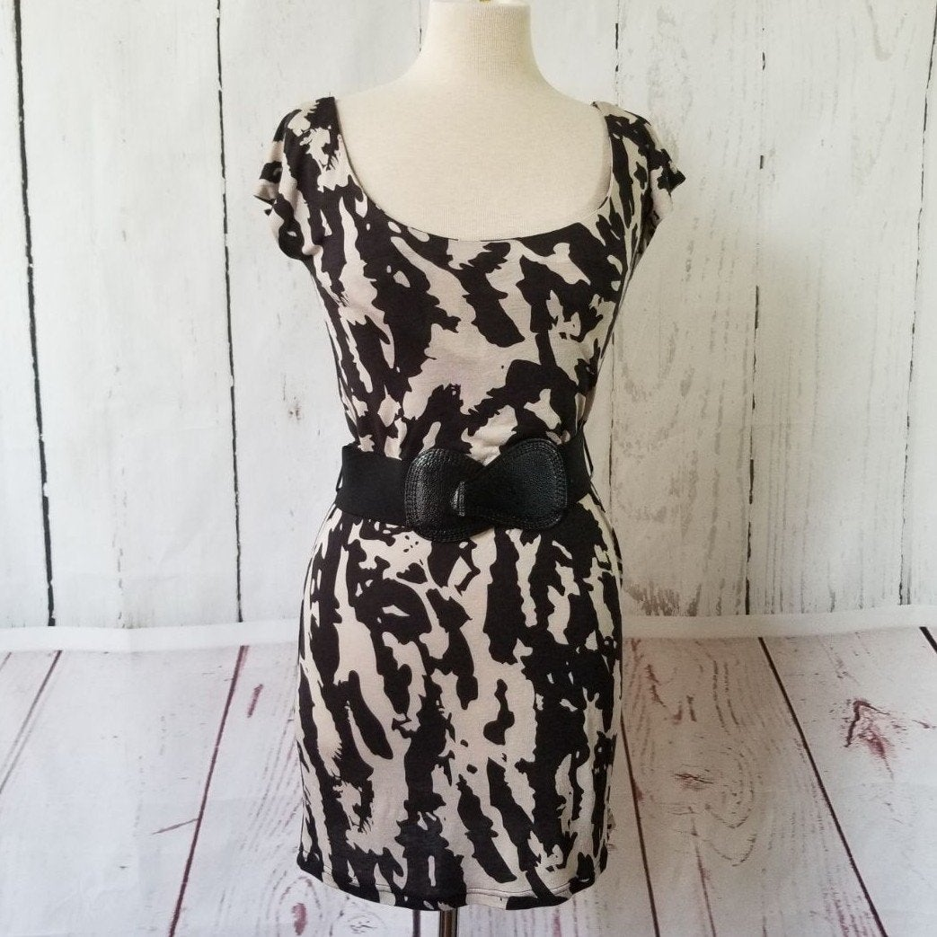 Wet Seal Belted Printed Dress